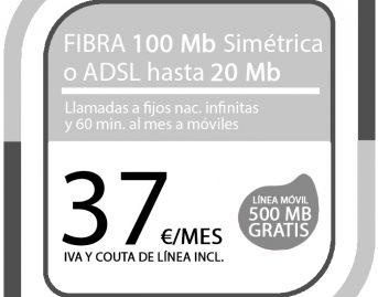 FIBRA 100MB ADSL 20MB