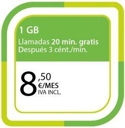 LA PREPAGO DE 1GB