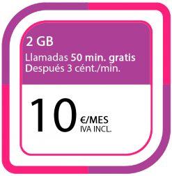 LA PREPAGO DE 2GB