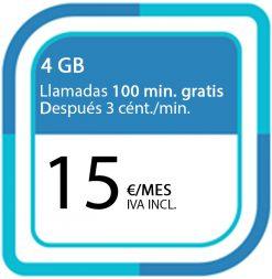 LA PREPAGO DE 4GB