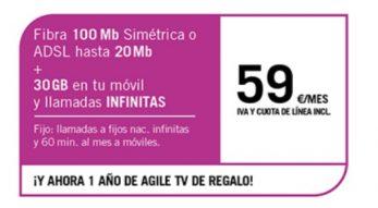 FIBRA 100MB/ADLS20MB + SINFÍN ∞