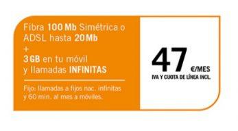 FIBRA 100MB/ADSL 2MB + SINFÍN 3GB
