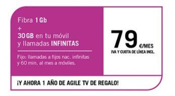 FIBRA 1GB + SINFÍN 30GB