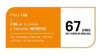 FIBRA 1GB + SINFÍN 3GB