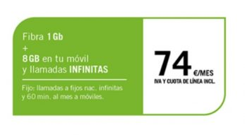 FIBRA 1GB + SINFÍN 8GB