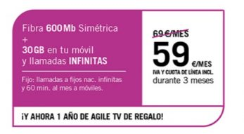FIBRA 600MB + SINFÍN 30GB