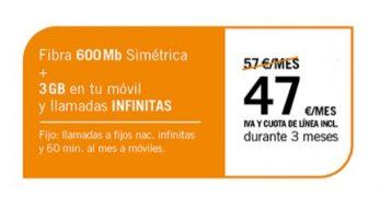 FIBRA 600MB + SINFÍN 3GB